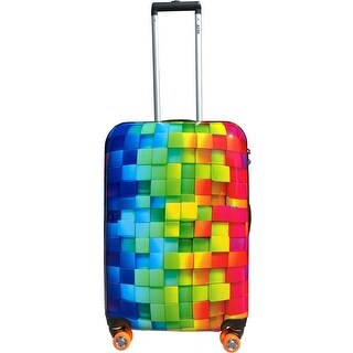 Smiley 26 Inch Rolling 3D Rainbow Luggage