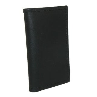 Boston Leather Men's Smooth Leather Business Card Holder - One size