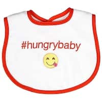 Raindrops Unisex Baby #Hungrybaby Hashtag Bib, Orange - One size