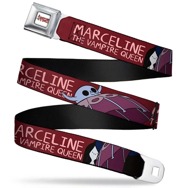 Adventure Time Logo White Full Color Marceline The Vampire Queen3 C U Seatbelt Belt
