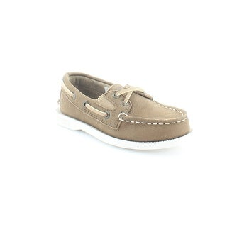 Sperry Top-Sider A/O Slip On Toddler Boys Oxfords Dark Tan