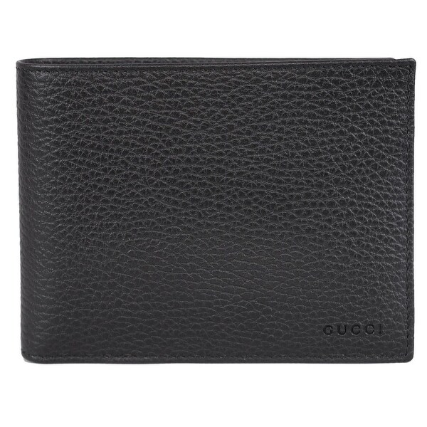 c6fd64e1a870 Shop Gucci 217044 Men's Black Leather Embossed Logo Trifold Passcase ID  Wallet - Free Shipping Today - Overstock - 12319585