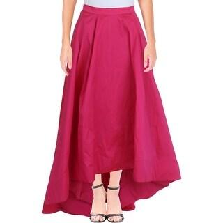 Aidan by Aidan Mattox Womens Maxi Skirt Taffeta Hi-Low