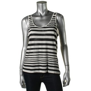 French Connection Womens Tank Top Cotton Striped - L