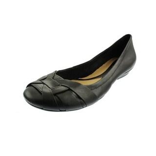 Naturalizer Womens Maude Leather Woven Toe Ballet Flats - 6.5 medium (b,m)