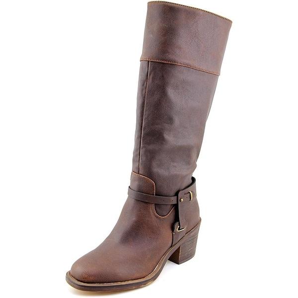 XOXO Marisa Round Toe Synthetic Knee High Boot