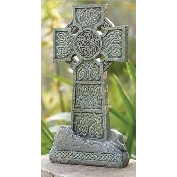 16 25 Irish Celtic Cross Religious Outdoor Garden Statue Decoration Free Shipping Today 17903755