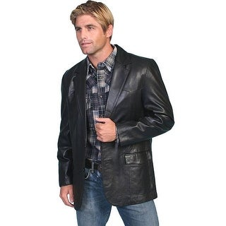 Scully Western Blazer Mens Lambskin Button Back Vent Black 501-11