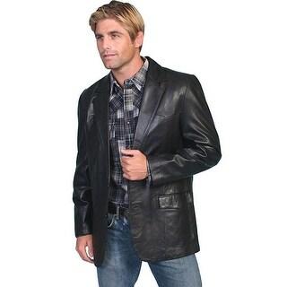 Scully Western Blazer Mens Lambskin Button Back Vent Black