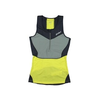 2XU Womens Zoned Compression Cooling Fabric Tank Top - L
