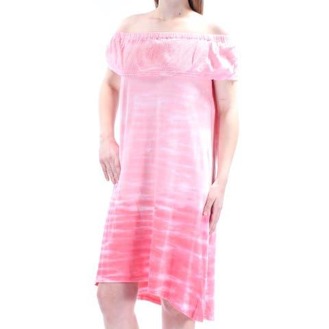 STYLE & COMPANY Pink Sleeveless Knee Length Dress M