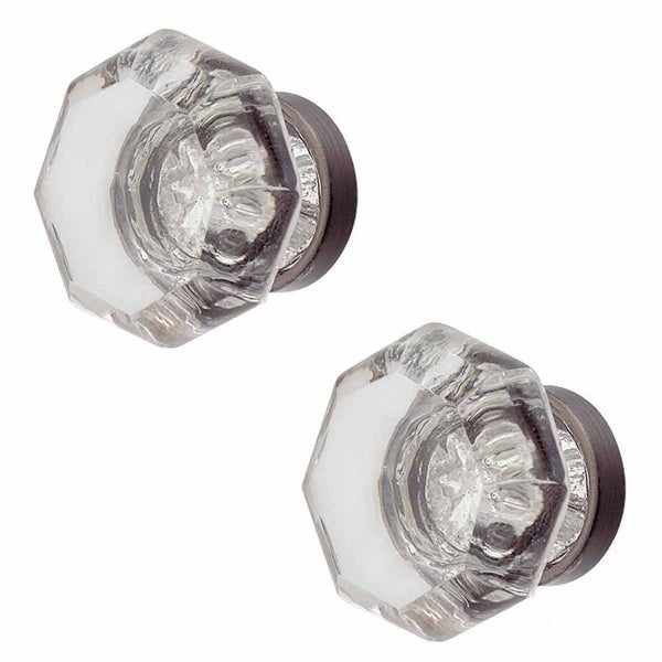 2 Cabinet Knob Crystal 1 Dia Pewter Back | Renovator's Supply