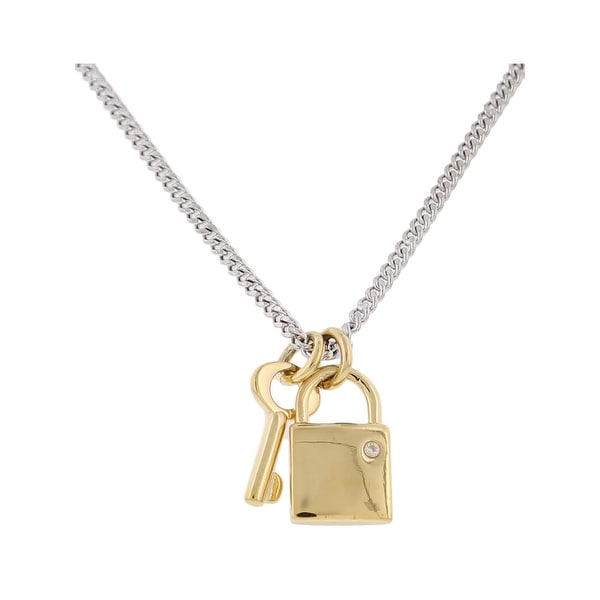 b3a011b4637 Marc by Marc Jacobs Womens Lock & Key Pendant Necklace Chain Crystal