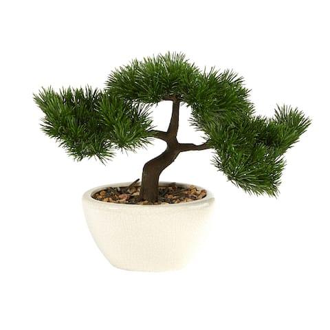 "10"" Cedar Bonsai Artificial Tree in Decorative Planter - 6"""