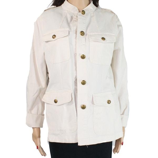 Shop Lauren By Ralph Lauren Womens Jacket Brown Nude Size