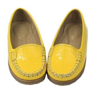 Foxpaws Shoes Toddler Girls Yellow Ava Leather Loafers Shoes 9-10 Toddler