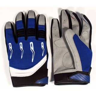 Race-Driven ATV MX Off Road Silicone Fingertip Riding Gloves - Blue