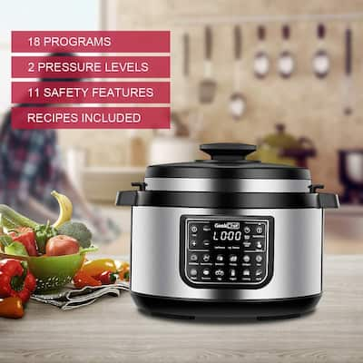 12-in-1 Multiuse Programmable Electric Pressure Cooker Oval, Slow/Rice Cooker/Warmer - 8 Quart