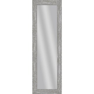 """PTM Images 5-13716 53 1/2"""" x 17 1/2"""" Rectangular Unbeveled Wood Framed Wall Mirror - gray"""