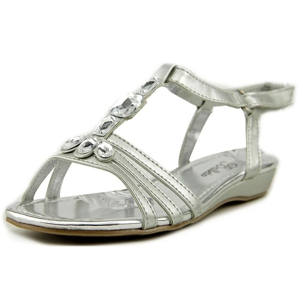 Balleto by Jumping Jacks Renee Youth Open-Toe Synthetic Silver Slingback Sandal