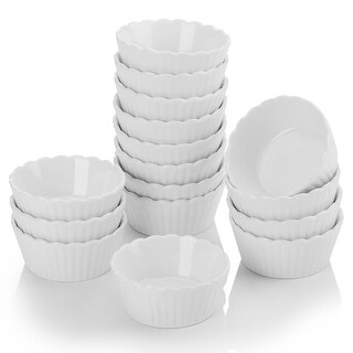 Link to 2.75'' White Porcelain Ramekins Souffle Dishes Baking Cups Set of 16 Similar Items in Bakeware