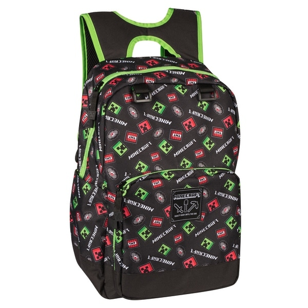 Shop JINX Minecraft Scatter Creeper Kids Backpack (Black 9f72f97f26226
