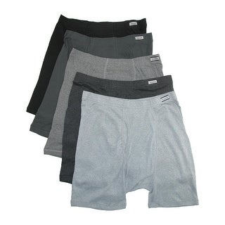 Hanes Men's Cotton ComfortSoft Tagless Boxer Briefs (Pack of 5)