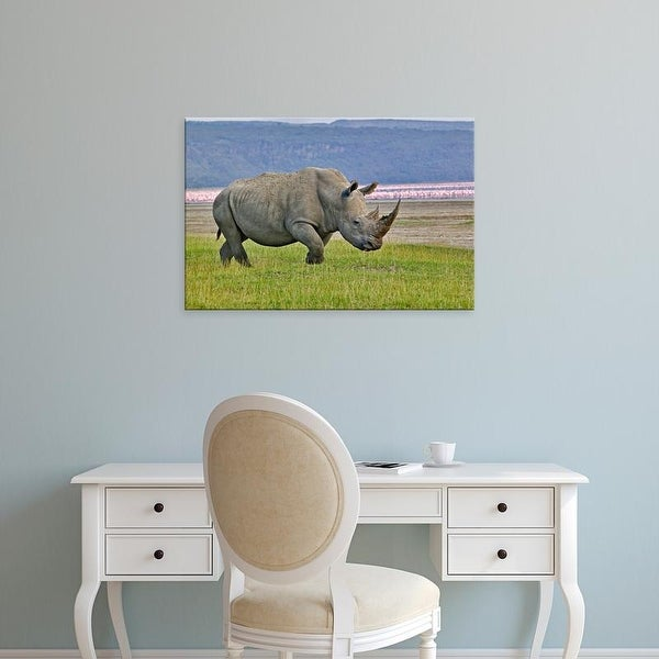 Easy Art Prints Adam Jones's 'White Rhinoceros' Premium Canvas Art
