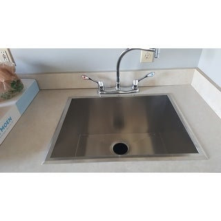 uberhaus kitchen faucet shop 23 inch stainless steel single bowl topmount drop in 15260