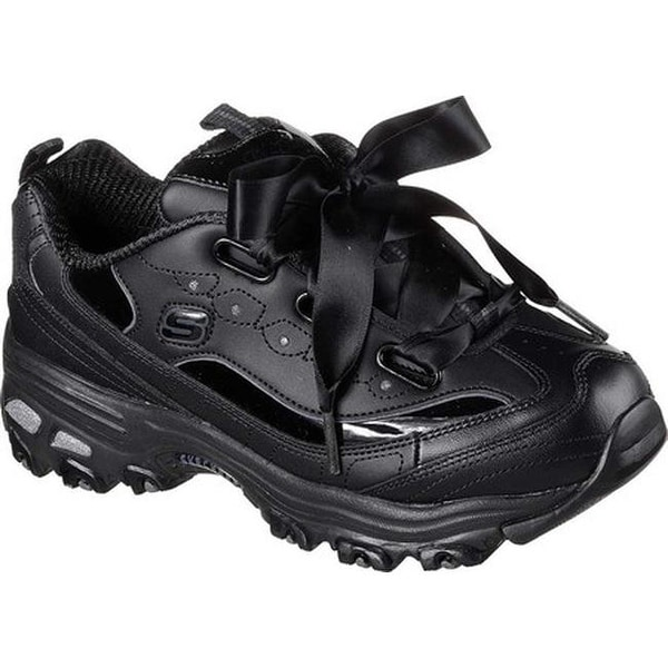 b16f5810932d Shop Skechers Women s D Lites Latest Trend Sneaker Black Black ...