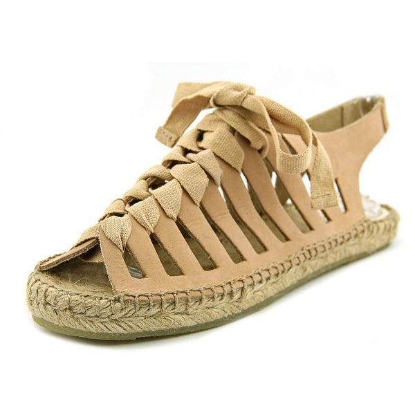 Coolway Circa Women Open-Toe Leather Tan Espadrille