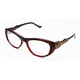 Judith Leiber Arabesque Eyeglasses Tortoise Red