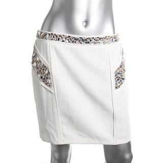 Endless Rose Womens Embellished Mini Pencil Skirt - S