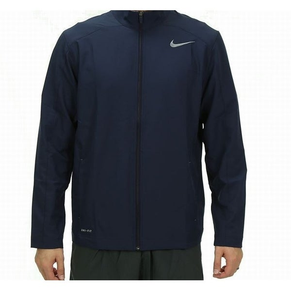 89136aad3c4c Shop Nike NEW Blue Mens Size Small S Dri-Fit Woven Windbreaker Jacket -  Free Shipping On Orders Over  45 - Overstock - 20059877