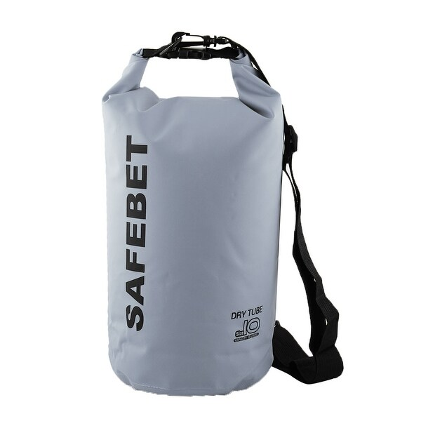 SAFEBET Authorized Water Resistant Bag Dry Sack Gray 10L for Rafting  Swimming 03e619d82a920