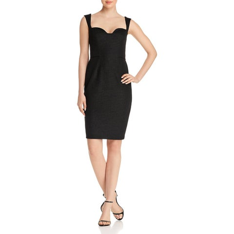 Aidan Mattox Womens Cocktail Dress Knee-Length Shimmer