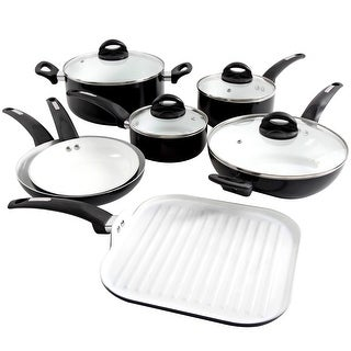 Link to Oster Herstal 11 Piece Aluminum Cookware Set in Black Similar Items in Cookware