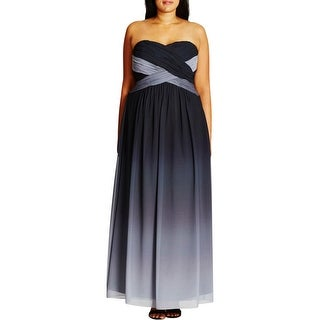 City Chic Womens Plus Evening Dress Shirred Ombre - 18