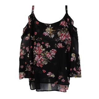 1bef4b4805693 Shop Inc International Concepts Plus Size Black Floral Off-The Shoulder  Blouse 0X - Free Shipping On Orders Over  45 - Overstock - 24179344