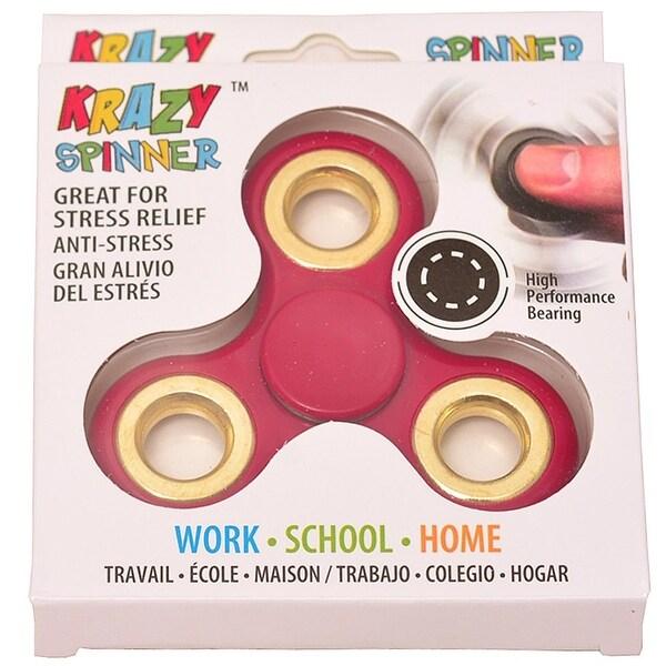 Krazy Spinner Boys Girls Red Gold Fidget Spinner Concentration Toy