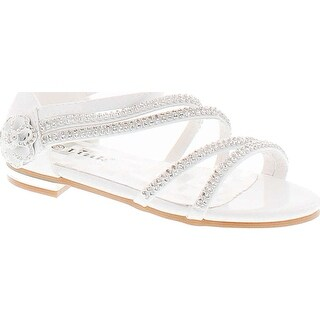Forever Nora-68K Girls Open Toe Flat Wedding Party Dress Sandal Shoes