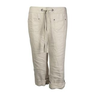 INC Women's Dream Pocketed Linen Pants