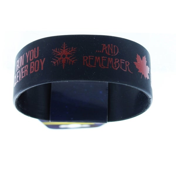Doctor Who Rubber Wristband Run Clever Boy Run And Remember - multi