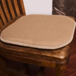 Honeycomb Memory Foam Non-Slip 2-Piece Chair Pad Set, 17x16 Inches
