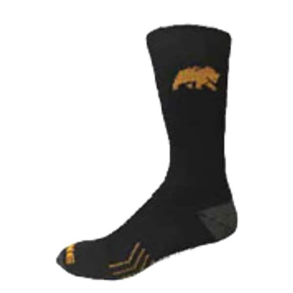 Berne Work Socks Mens Performance Crew Embroidered Black