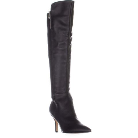 Marc Fisher Womens Thora Leather Pointed Toe Over Knee Fashion Boots