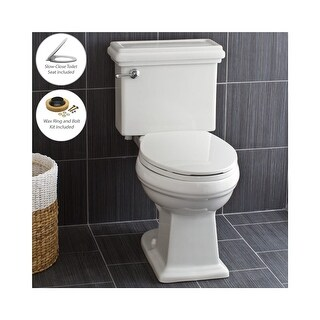 Miseno MNO240C Two-Piece High Efficiency Toilet with Elongated Chair Height Bowl (Includes Slow-Close Seat and Wax Ring)
