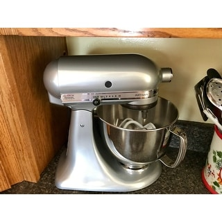 ... Kitchenaid Rrk150mc Metallic Chrome 5 Quart Artisan Tilt Head Stand  Mixer Refurbished ...
