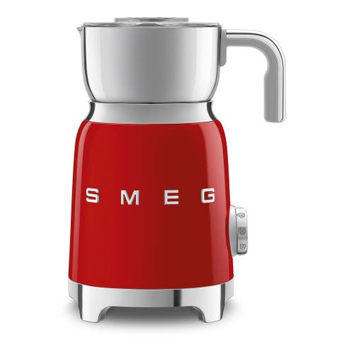 Smeg 50's Retro Style Aesthetic Milk Frother, Red