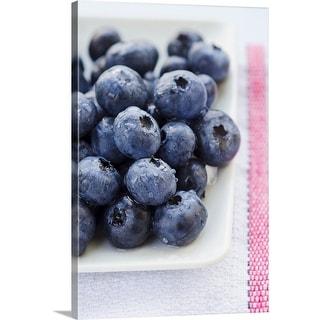 """Studio shot of blueberries"" Canvas Wall Art"